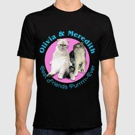 Olivia & Meredith Best Friends Purrr-Ever Original T-shirt T-shirt