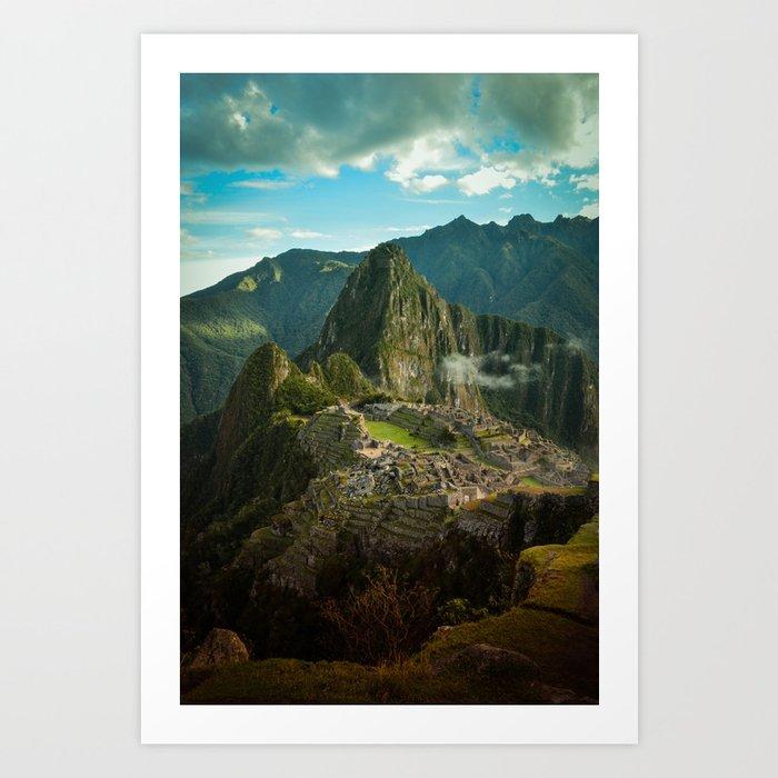 Machu Picchu (color) Art Print