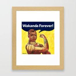 Wakanda Forever Framed Art Print