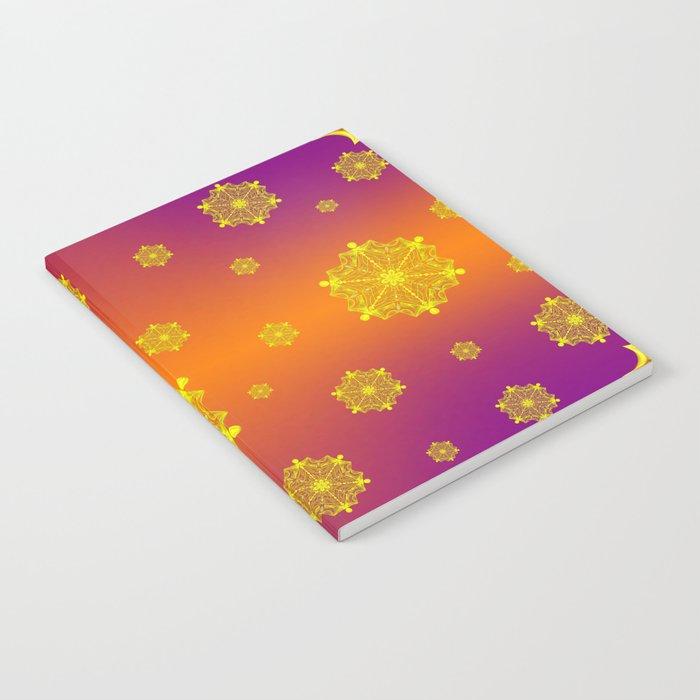 Snowflake Sunset Notebook
