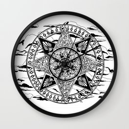 Wheel in the Sky Mandala Wall Clock