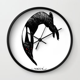 back rabbit of inle Wall Clock