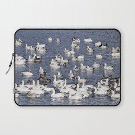 Snow Geese at Centennial Beach Laptop Sleeve