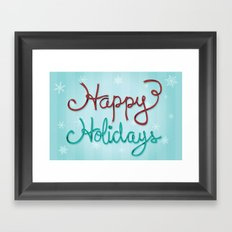 Holiday Ribbon Framed Art Print