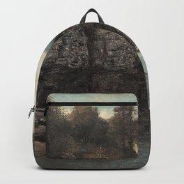 Gustave Courbet - Felsen nahe der Grotte der Loue Backpack