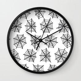 Black Webs Wall Clock