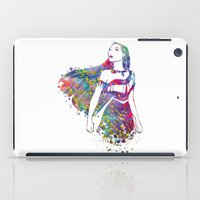 pocahontas iPad Cases featuring Princess Pocahontas by Bitter Moon