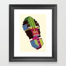 BAKOTA MASK Framed Art Print