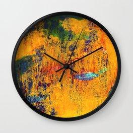 Imaginaere Landschaft II abstrakte Malerei Wall Clock