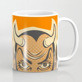 Retro Creepy Halloween Devil Mask Face Coffee Mug