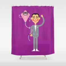 Saturday Morning Hero Shower Curtain