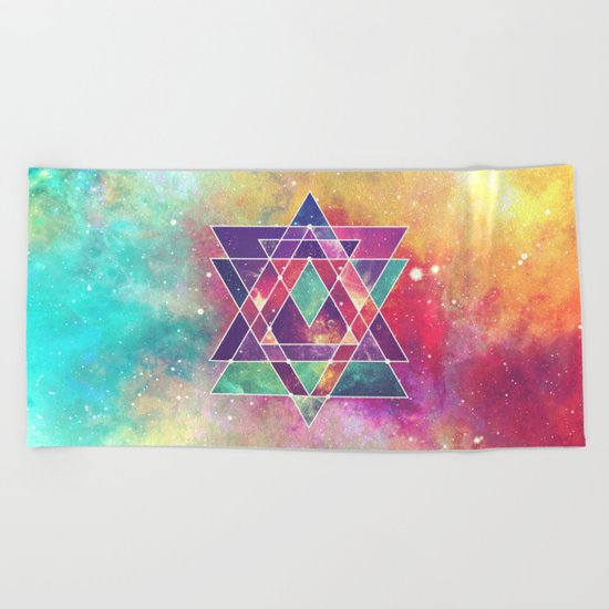 Sacred Geometry (Connection) Beach Towel