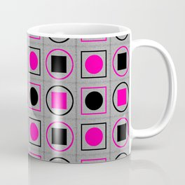 Rounds and Squares (Pink1) Coffee Mug