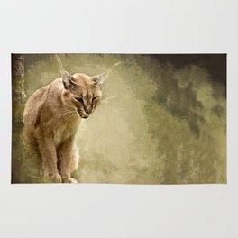 Caracal- wild cat Rug