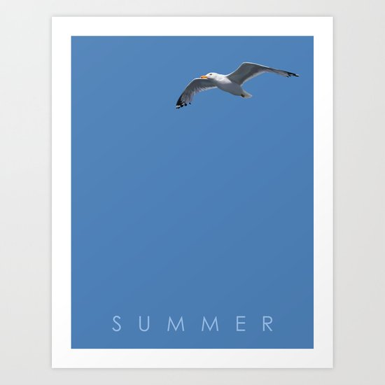 Blue Series #001 ~ Summer Art Print