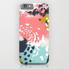 Athena - abstract painting hipster home decor trendy color palette art gifts iPhone Case