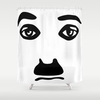 chaplin Shower Curtains featuring Silent Stars - Charlie Chaplin by Making Faces