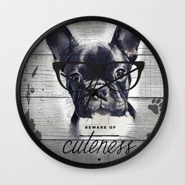 Beware of Cuteness Wall Clock