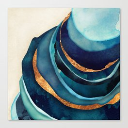 Abstract Blue with Gold Canvas Print
