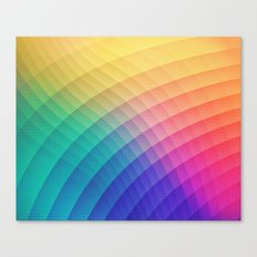 Spectrum Bomb! Fruity Fresh (HDR Rainbow Colorful Experimental Pattern) Canvas Print
