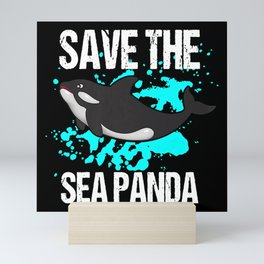 Save The Sea Panda Mini Art Print