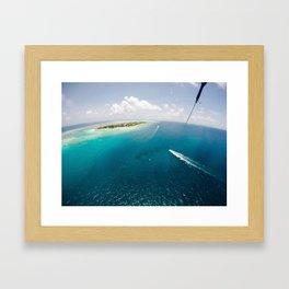 Dreams of small islets Framed Art Print