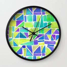Watercolour Shapes Lemon Wall Clock