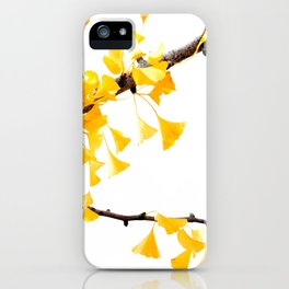yellow gingko leaves iPhone Case