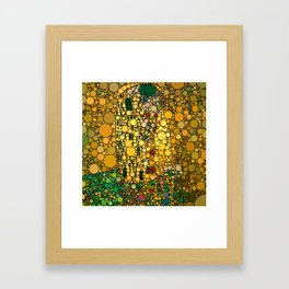If Klimt The Kiss was painted with bubbles  Framed Art Print