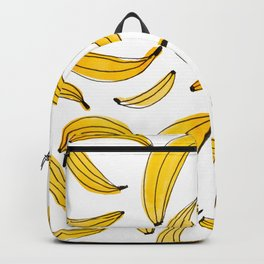 Watercolor bananas - yellow Backpack