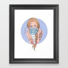 Follow the White Rabbit - Alice Framed Art Print