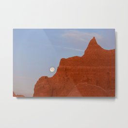 Full Moon Setting Metal Print