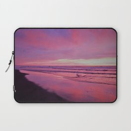 Pinks and Purples at Sunset Beachside by Reay of Light Photography Laptop Sleeve