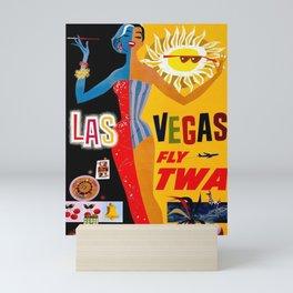 Vintage Travel Poster - Las Vegas Mini Art Print