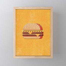 FAST FOOD / Burger Framed Mini Art Print