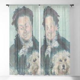 Claude Monet - La Mère Paul (Eugénie Graff) Sheer Curtain