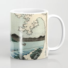 Hiroshige - 36 Views of Mount Fuji (1858) - 23: The Sea off Satta in Suruga Province Coffee Mug