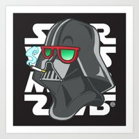 darth Art Prints featuring Darth by Octofly Art