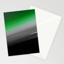 Green Gray Black Ombre Stationery Cards