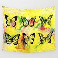 butterflies Wall Tapestries featuring Butterflies by ShaMiLa