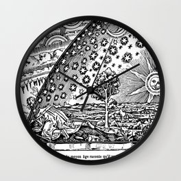 Flammarion Woodcut Wall Clock
