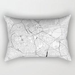 Nashville White Map Rectangular Pillow