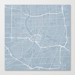 Rochester Map, USA - Slate Canvas Print
