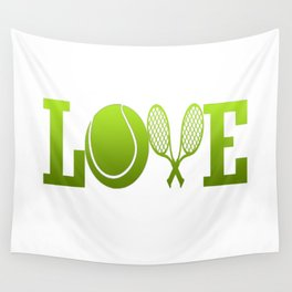 LOVE TENNIS Wall Tapestry