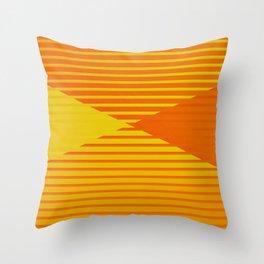 Yellow stripes and balls ... Throw Pillow