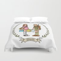 moonrise kingdom Duvet Covers featuring Moonrise Kingdom  by Dueling Doodlers