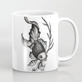 Illustration Poisson Noir - Black Fish de Lucille Bertrand Coffee Mug