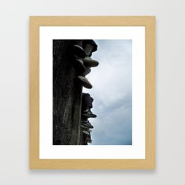 Shoes of the Crowd Framed Art Print