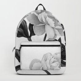 grayscale roses Backpack