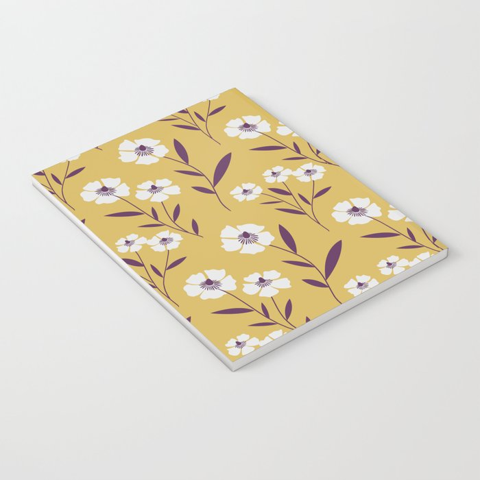 Poppies in Yellow Notebook
